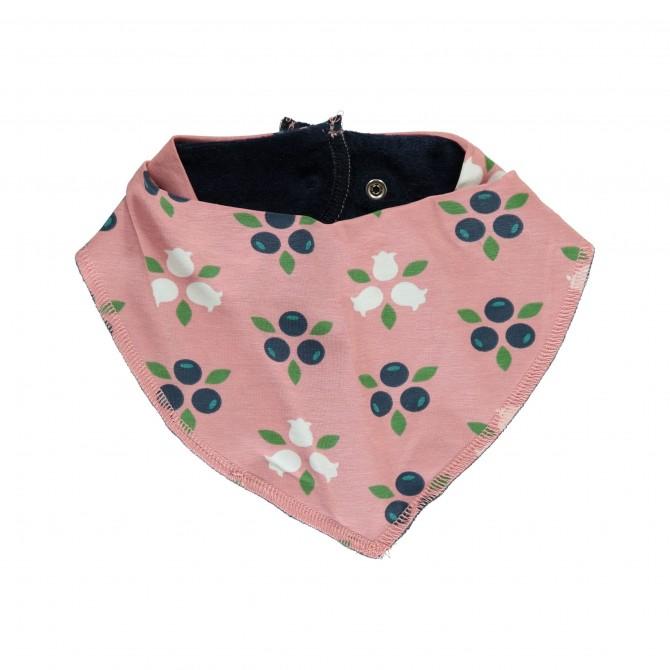 bavoir bandana Blueberry blossom par maxomorra