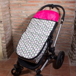 Saco carro bebé invierno - calaveras gris