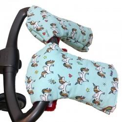 Guantes carrito bebé - unicornios