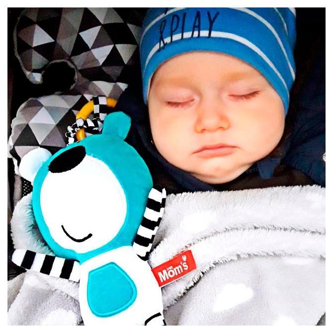 Jouet bébé avec music ours bleu