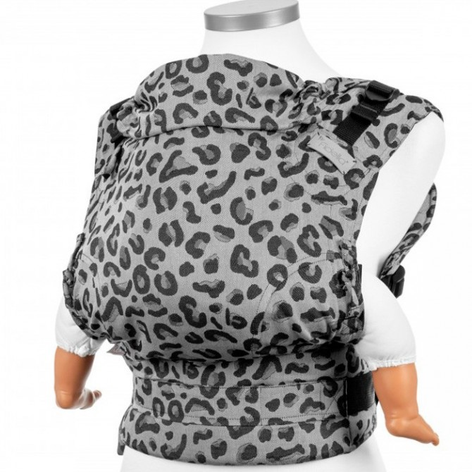 1 Mochila portabebés Fidella fusion Silver leopard