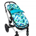 Summer footmuff stroller - blue Chevron