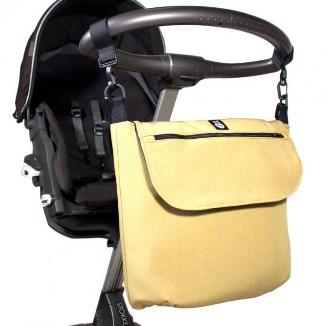 Bolso bebé sobre stokke - amarillo mostaza