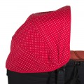 Capota personalizada Jane Micro - pique topos rojo