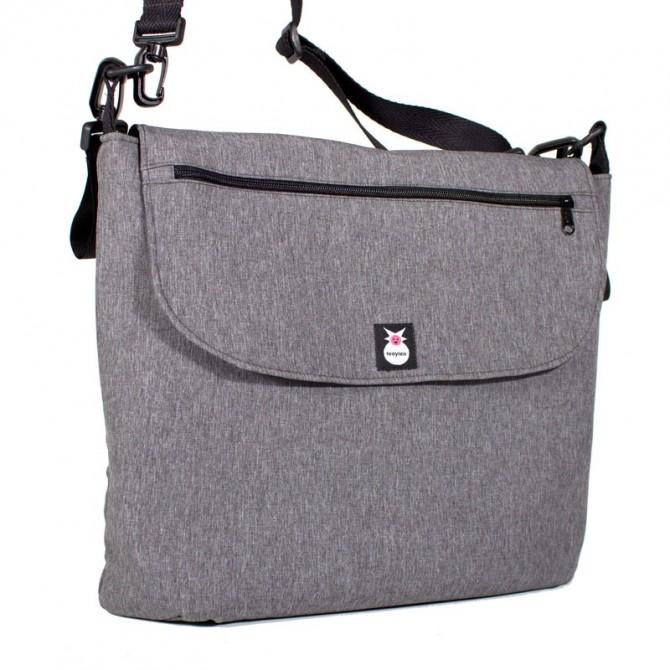 Bolso carrito ligero bebé - gris jaspeado