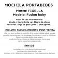 Mochila portabebés Fidella dacing leaves - ficha informativa