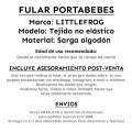 Fular portabebés Linen black cube bebé - ficha producto