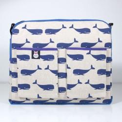 Bolso carro bebe - ballenas