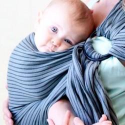Bandolera Portabebes anillas Mobywrap - jet ribbons