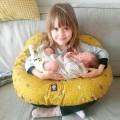 Cojin lactancia bebé - koalas mostaza