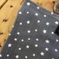 Muselina gris Estrellas detalle
