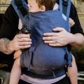 Mochila ergonómica FIdella fusion toddler chevron azul 2