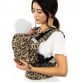 Mochila portabebés Fidella fusion baby golden leopard madre