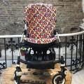 Funda bugaboo bee + en silla1 Corazones