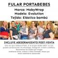 Asesoramiento porteo Fular portabebes elástico MobyWrap - stitches