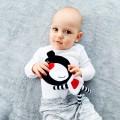 Regalo bebé - osito Boo negro y rojo