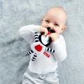 Osito blandito doudou bebe - Boo negro y rojo