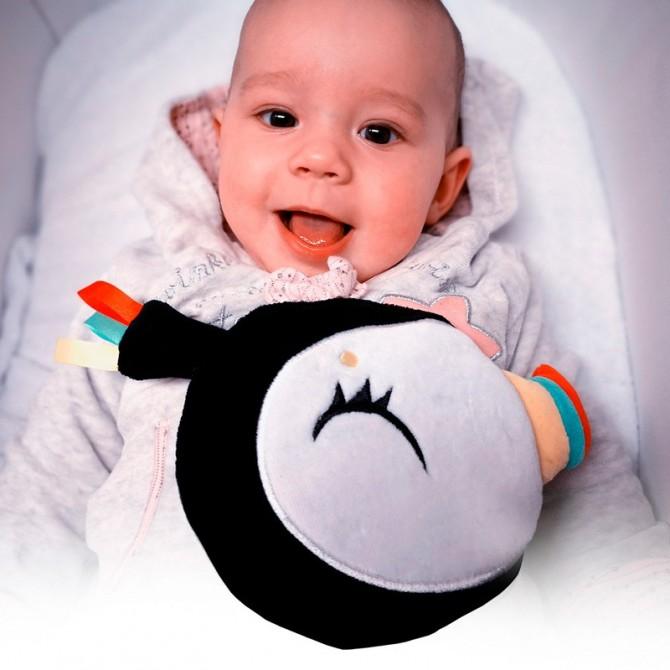Juguete bebé recien nacido - cabeza tucán