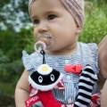 Portachupetes juguete mapache para bebé