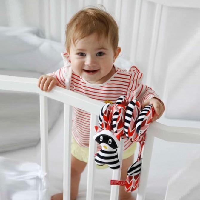 Espiral para carrito bebé - mapache rojo