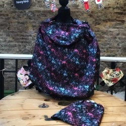 maniqui Cobertor de porteo impermeable - garabatos