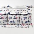 Organizador con bolsillos de tela para cuna - vespas vintage