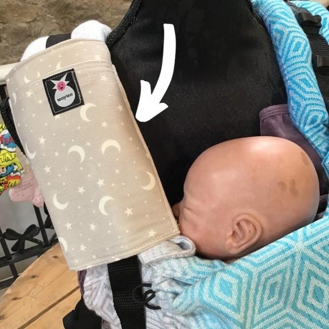 Protector de tirante para mochila portabebés lunitas cinturon