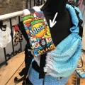 Protector de tirante para mochila portabebés crash boom