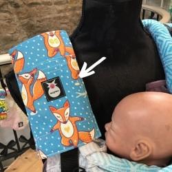 Protector de tirante para mochila portabebés lobitos yoga bebé