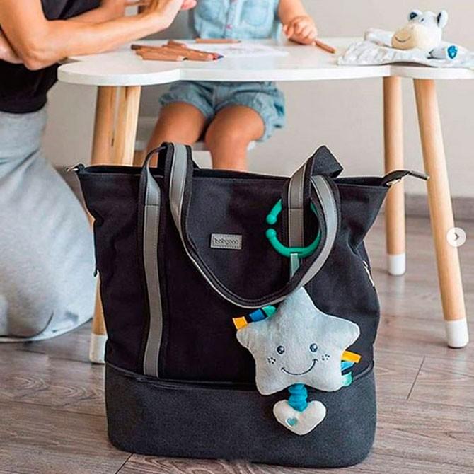 Bolso bebé barato - vertical black