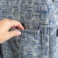 Bolsa bebé con bolsillos - blue denim pattern