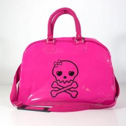 Bolso carro bebe calavera rosa