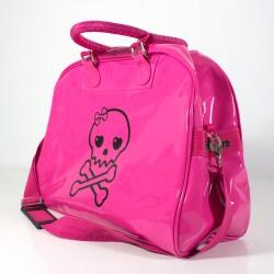 Bolso hospital bebé calavera rosa