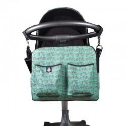Bolsa carrito bebé - cebras menta