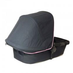 Capota Bugaboo Camaleon - negro con borde rosa