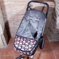 Saco de invierno universal para silla de paseo - calaveras paisley