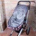 Funda de invierno universal para silla de paseo - calaveras paisley