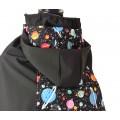 Cobertor de porteo con capucha - planetas