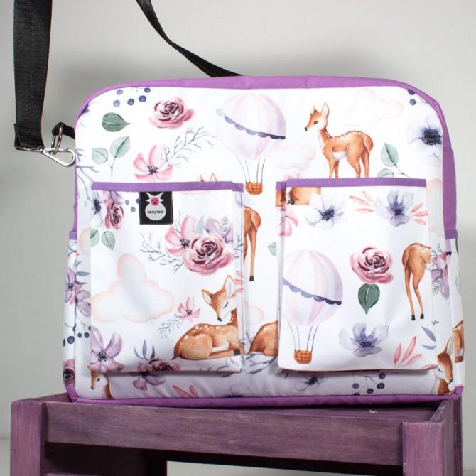 Bolso carro bebé - ciervos y globos