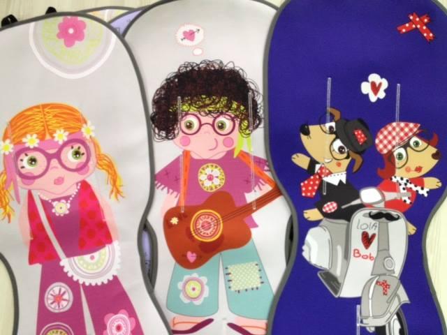 Colchonetas hippies para silla de paseo teoyleo - Colchonetas para sillas de paseo originales ...