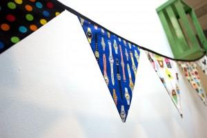Banderines de tela,  decoracion para bebé original!