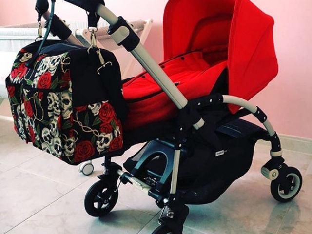 Bolso carrito bebe calaveras