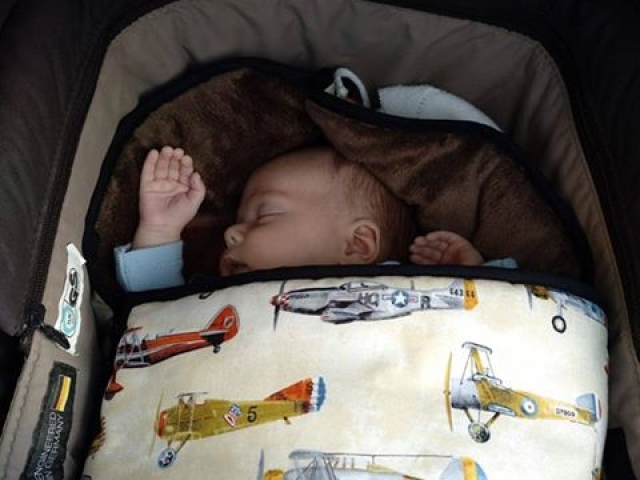 Saco de bebé para capazo tela avionetas