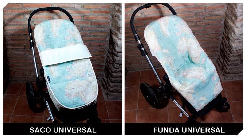 fundas para carrito de bebé mapamundi