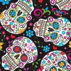 Tela 162 Folk skulls negro
